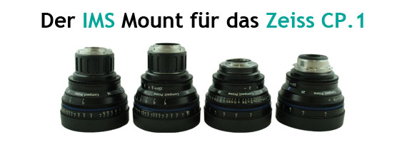 P+S TECHNIK IMS Mounts Zeiss CP.1, Canon EF Mount, E-Mount MFT-Mount, Kollimator, Interchangeable Mount System