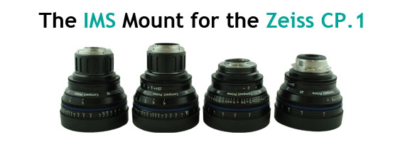P+S TECHNIK IMS Mounts Zeiss CP.1, Canon EF MOunt, E-Mount MFT-Mount, collimators, Interchangeable Mount System