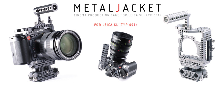The MetalJacket c age By LockCircle for the Leica SL creates due to numerous features the feeling for a professional camera and enhances the cinematic feeling when shooting motion pictures.