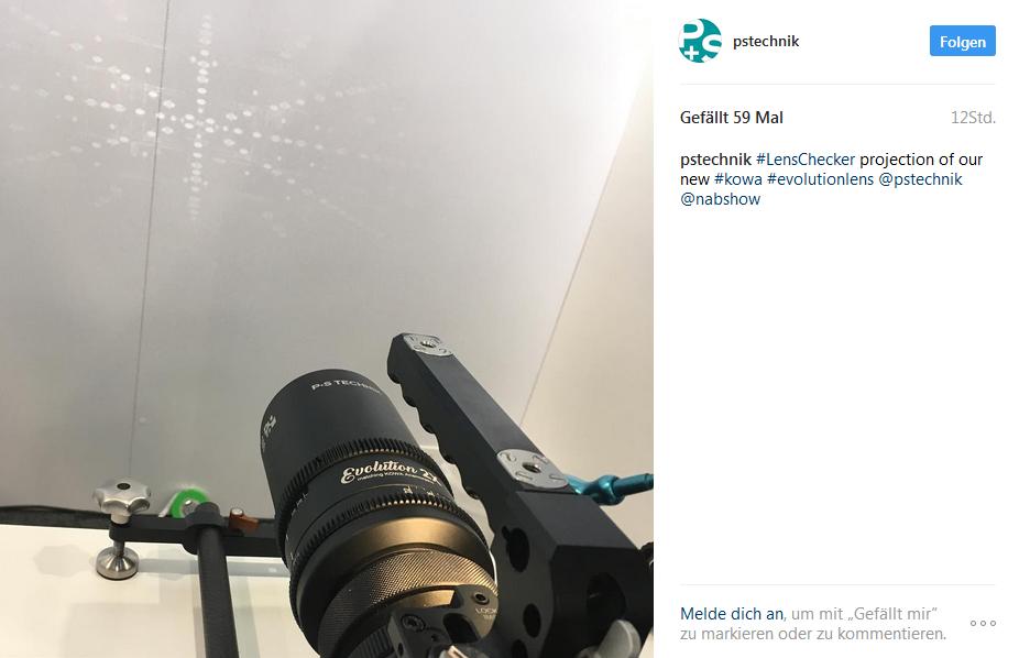 NAB P+S LensChecker and KOWA 100mm Lens